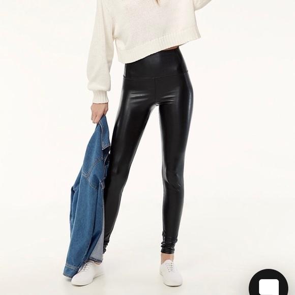 ee4b02e394bca Aritzia Pants | Leather Leggings Wilfred Free Daria Pant | Poshmark